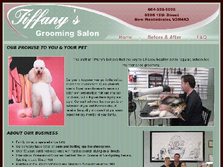 Tiffany's Grooming Salon (604-526-5026) - Onglet de site Web - http://www.tiffanysgrooming.com