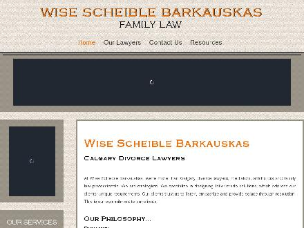 Wise Scheible Barkauskas (403-263-6601) - Website thumbnail - http://www.wisedivorce.com