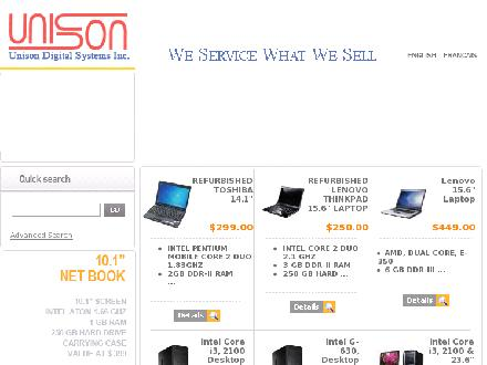 Unison Digital Systems (506-852-4291) - Website thumbnail - http://www.unisondigital.com