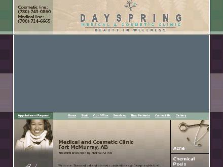 Dayspring Medical Clinic (780-714-6665) - Website thumbnail - http://www.dayspringmedical-cosmeticclinic.com