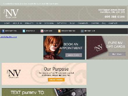 Pure NV Salon & Spa (905-581-4031) - Website thumbnail - http://www.purenv.ca