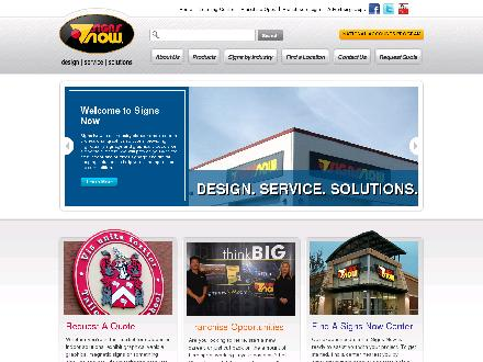 Signs Now (204-784-9453) - Onglet de site Web - http://www.signsnow.com