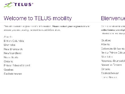 Telusmobility.com - Onglet de site Web - http://www.telusmobility.com