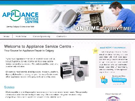 Appliance Service Centre (403-249-3151) - Onglet de site Web - http://www.applianceservicecentre.ca