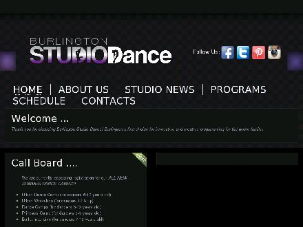 Burlington Studio Dance (905-634-1515) - Onglet de site Web - http://www.burlingtonstudiodance.com