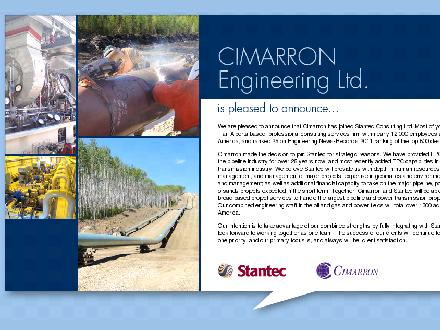 Cimarron Engineering Ltd (403-252-3436) - Onglet de site Web - http://www.cimarron.ab.ca