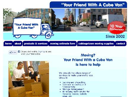 Your Friend With A Cube Van (416-960-2048) - Onglet de site Web - http://www.yfcv.ca