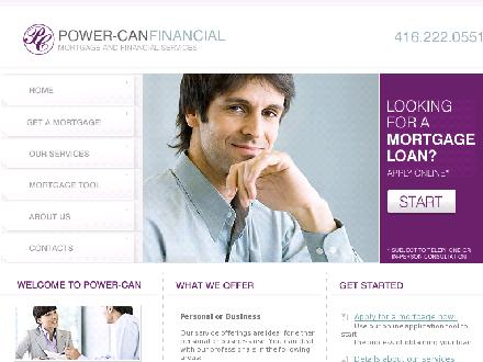 Power-Can Financial Services Inc (416-222-0551) - Onglet de site Web - http://www.powercan.ca