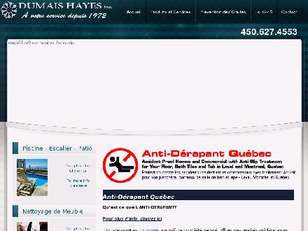 Dumais Hayes Inc (450-627-4553) - Onglet de site Web - http://www.antiderapantplancher.ca