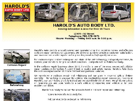 Harold's Auto Body Ltd (780-613-0371) - Website thumbnail - http://haroldsautobody.net/