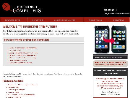 Brendish Computers (705-788-2911) - Website thumbnail - http://www.brendishcomputers.com