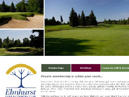 Elmhurst Golf & Country Club (204-224-2244) - Onglet de site Web - http://www.elmhurstcc.ca