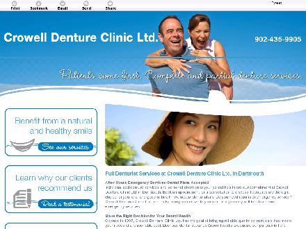 Crowell Denture Clinic Ltd (902-435-9905) - Onglet de site Web - http://www.crowelldentures.com