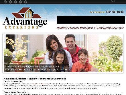 Advantage Exteriors (902-830-9403) - Website thumbnail - http://advantageexteriors.ca/