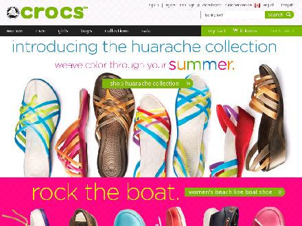 Crocs.ca - Website thumbnail - http://www.crocs.ca