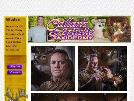 Callan's Artistic Taxidermy (613-932-0517) - Website thumbnail - http://www.callantaxidermy.com/index.htm