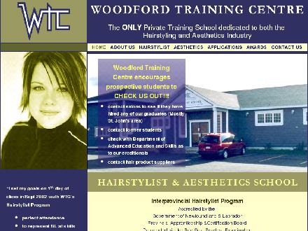 Woodford Training Centre Inc Hairstylist-Aesthetics School (709-834-7000) - Website thumbnail - http://www.woodfordtraining.com