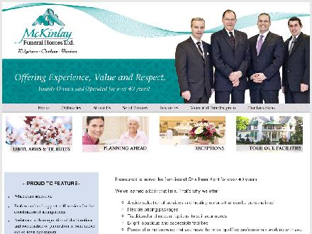 McKinlay Funeral Homes (519-351-2040) - Onglet de site Web - http://www.mckinlayfuneralhome.com