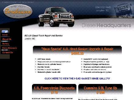 Bernhausen Specialty Automotive (604-532-9445) - Onglet de site Web - http://www.bernhausendiesel.com