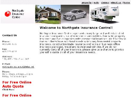 Northgate Insurance Centre (403-234-1933) - Onglet de site Web - http://northgateinsurance.ca