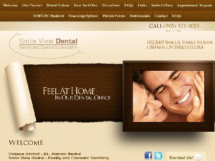 Smile View Dental (905-571-0001) - Onglet de site Web - http://www.smileviewdental.com