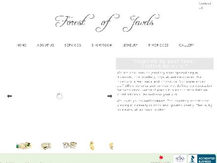 Forest Of Jewels (780-613-0282) - Onglet de site Web - http://www.forestofjewels.com