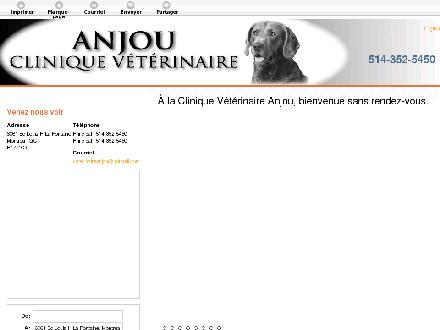 Clinique Vétérinaire Anjou (514-352-5450) - Website thumbnail - http://cliniquevetanjou.ca/