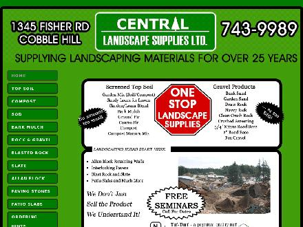 Central Landscape Supplies Ltd (250-743-9989) - Website thumbnail - http://www.centrallandscapesupplies.com