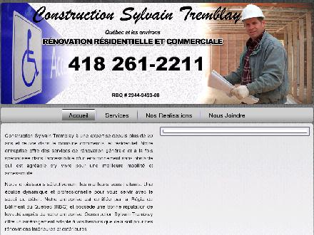 Construction Sylvain Tremblay Inc (418-261-2211) - Onglet de site Web - http://www.stconstruction.ca