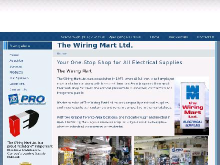 The Wiring Mart Ltd (416-752-7360) - Website thumbnail - http://www.wiringmart.com