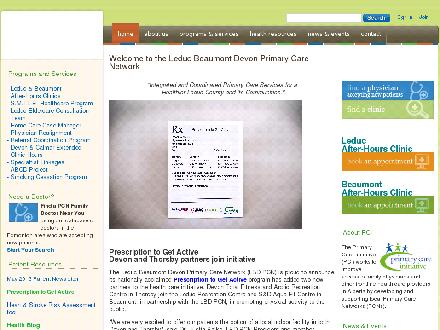 Leduc Beaumont Devon Primary Care Network (780-986-6624) - Website thumbnail - http://www.lbdpcn.com