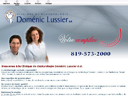 Clinique De Denturologie Doménic Lussier (819-573-2000) - Website thumbnail - http://souriresherbrooke.com/