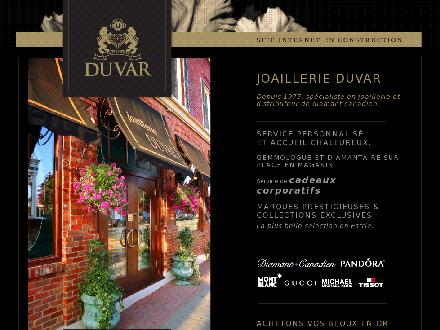 Joaillerie Duvar (819-843-3121) - Onglet de site Web - http://www.duvar.ca/