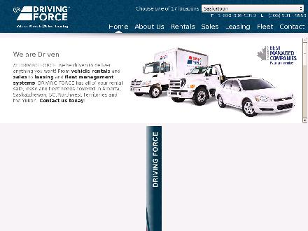 Driving Force Vehicle Rentals Sales & Leasing (403-798-0943) - Website thumbnail - http://www.drivingforce.ca