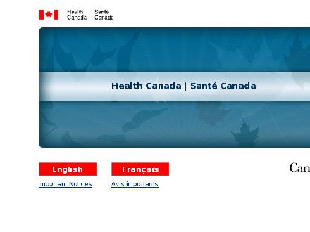 Health Canada (1-866-225-0709) - Website thumbnail - http://www.hc-sc.gc.ca