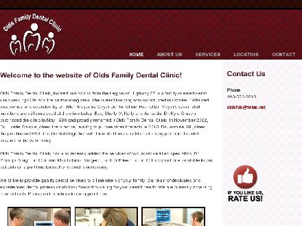 Olds Family Dental Clinic (403-556-8818) - Website thumbnail - http://www.oldsfamilydental.ca