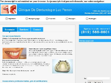Clinique De Denturologie Luc Perron (819-568-8601) - Website thumbnail - http://lucperrondenturologiste.ca