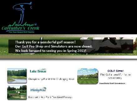Carruther's Creek Golf & Country Club (905-426-4653) - Onglet de site Web - http://www.carrutherscreekgolf.ca/