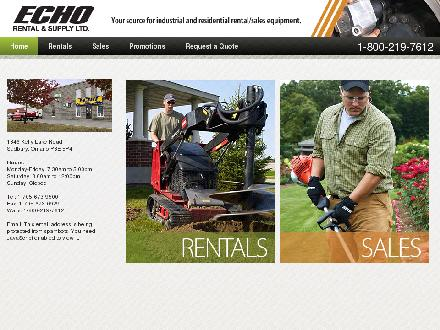 Echo Rental & Supply Ltd (705-673-9500) - Website thumbnail - http://www.echorental.com