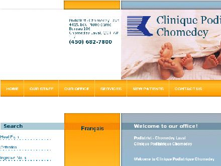 Clinique Podiatrique Chomedey (450-682-7800) - Website thumbnail - http://www.cliniquepodiatriquechomedey.com