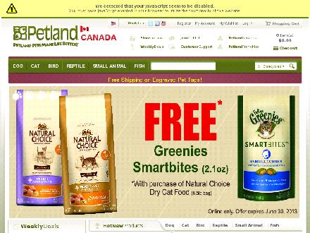 The Great Pet Tender (905-380-3007) - Onglet de site Web - http://www.petland.ca