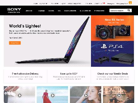 Sony.ca - Website thumbnail - http://www.sony.ca