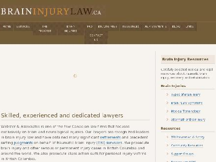 Webster &amp; Associates (604-713-8030) - Website thumbnail - http://www.braininjurylaw.ca