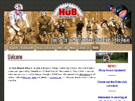 The Hub Bicycle Shop (519-249-1473) - Onglet de site Web - http://www.hubbicycleshop.com