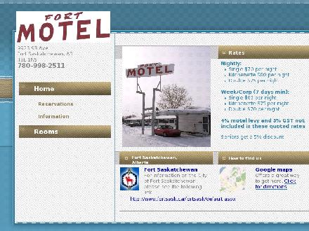 Fort Motel (780-998-2511) - Website thumbnail - http://www.fortmotel.ca