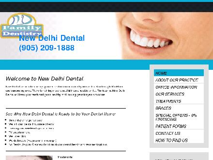 New Delhi Dental (289-800-4523) - Website thumbnail - http://www.newdelhidental.com