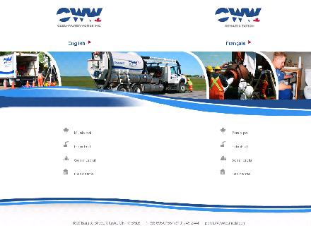 Clean Water Works (613-745-2444) - Onglet de site Web - http://www.cwwcanada.com