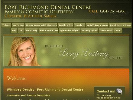 Fort Richmond Dental Centre (204-261-4206) - Website thumbnail - http://www.fortrichmonddental.com/