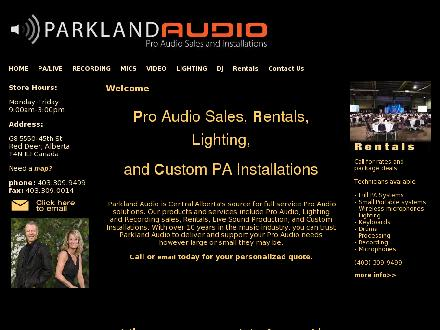 Parkland Audio (403-309-9499) - Onglet de site Web - http://www.parklandaudio.com
