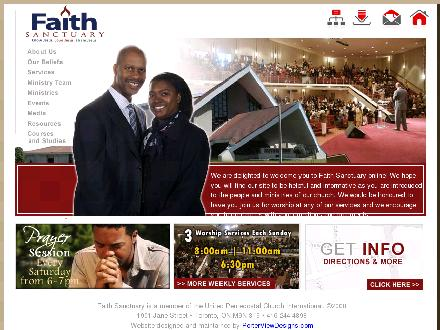 Faith Sanctuary Pentecostal Church (416-244-4898) - Onglet de site Web - http://faithsanctuary.com